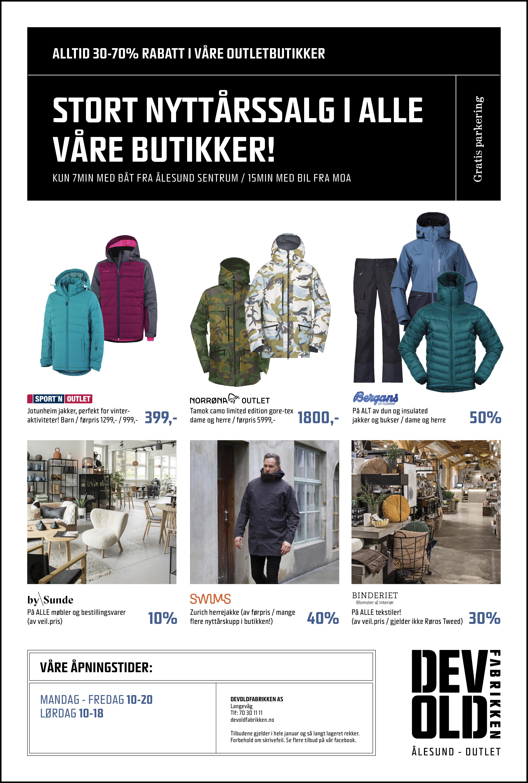 Devoldfabrikken Masse gode tilbud hos Norrøna Outlet